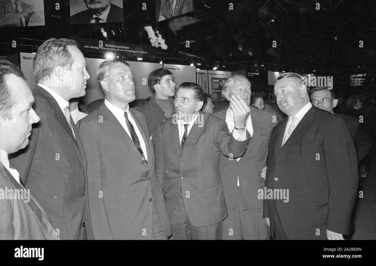 Engineer Wernher Von Braun 3rd From Left Visits The