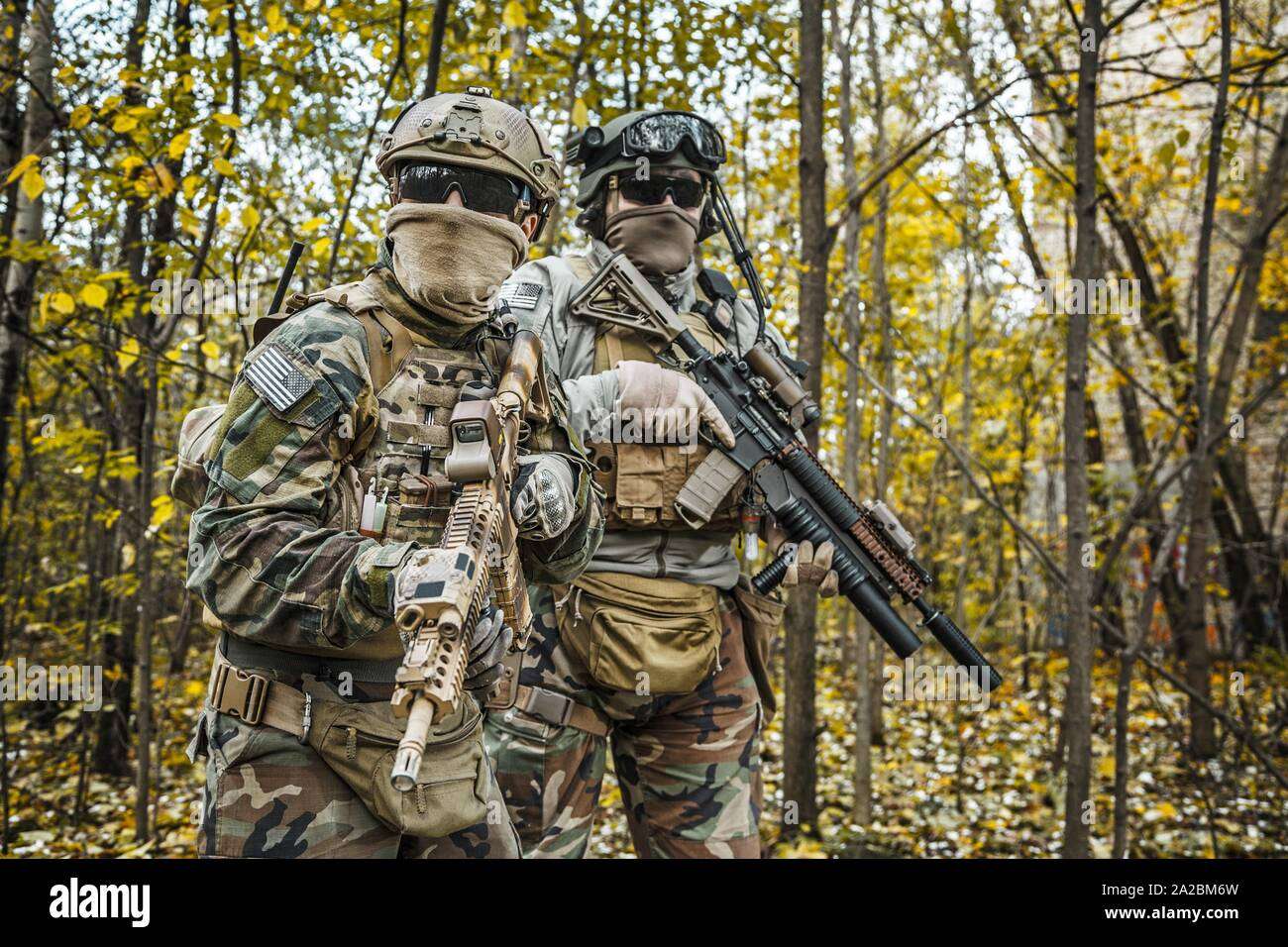 Two United states Marine Corps special operations command Marine ...
