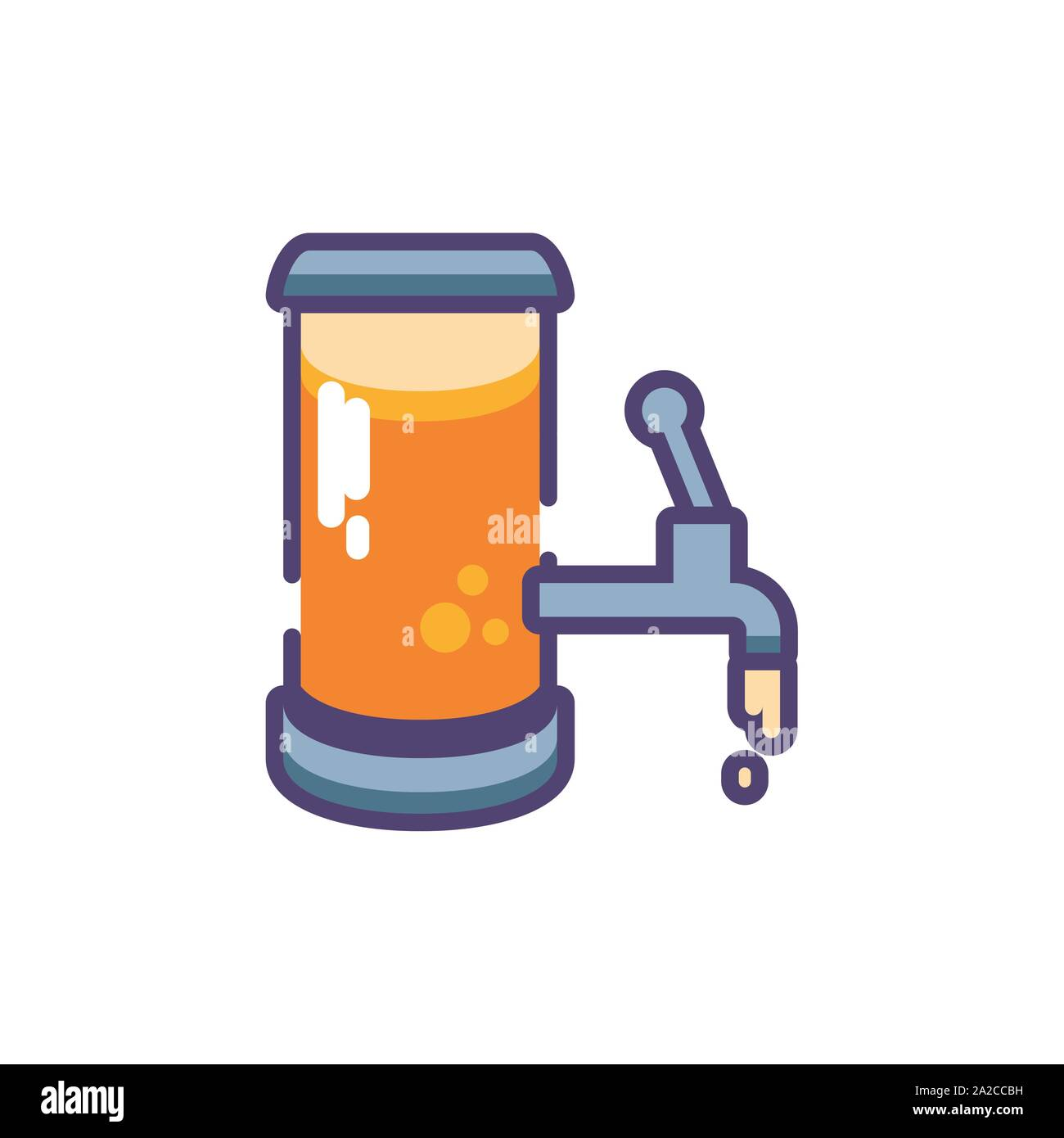 barrel of beer in white background vector illustration design Stock Vector