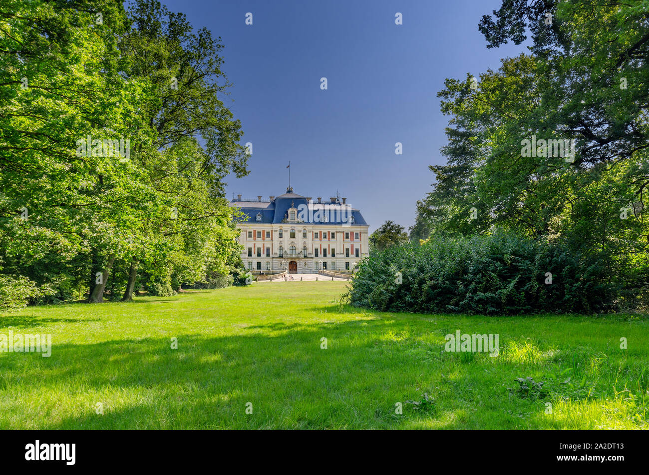 Pszczyna (ger.: Pless), Silesian province, Poland. Neo-baroque castle of the Hochberg family, museum at present. Stock Photo