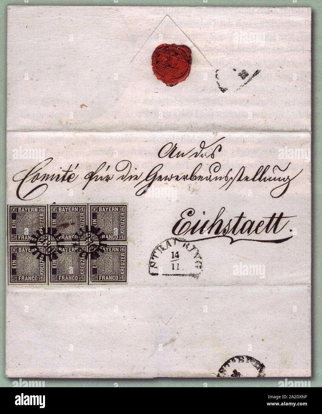 Eichstaett-Brief-postfrisch. Stock Photo