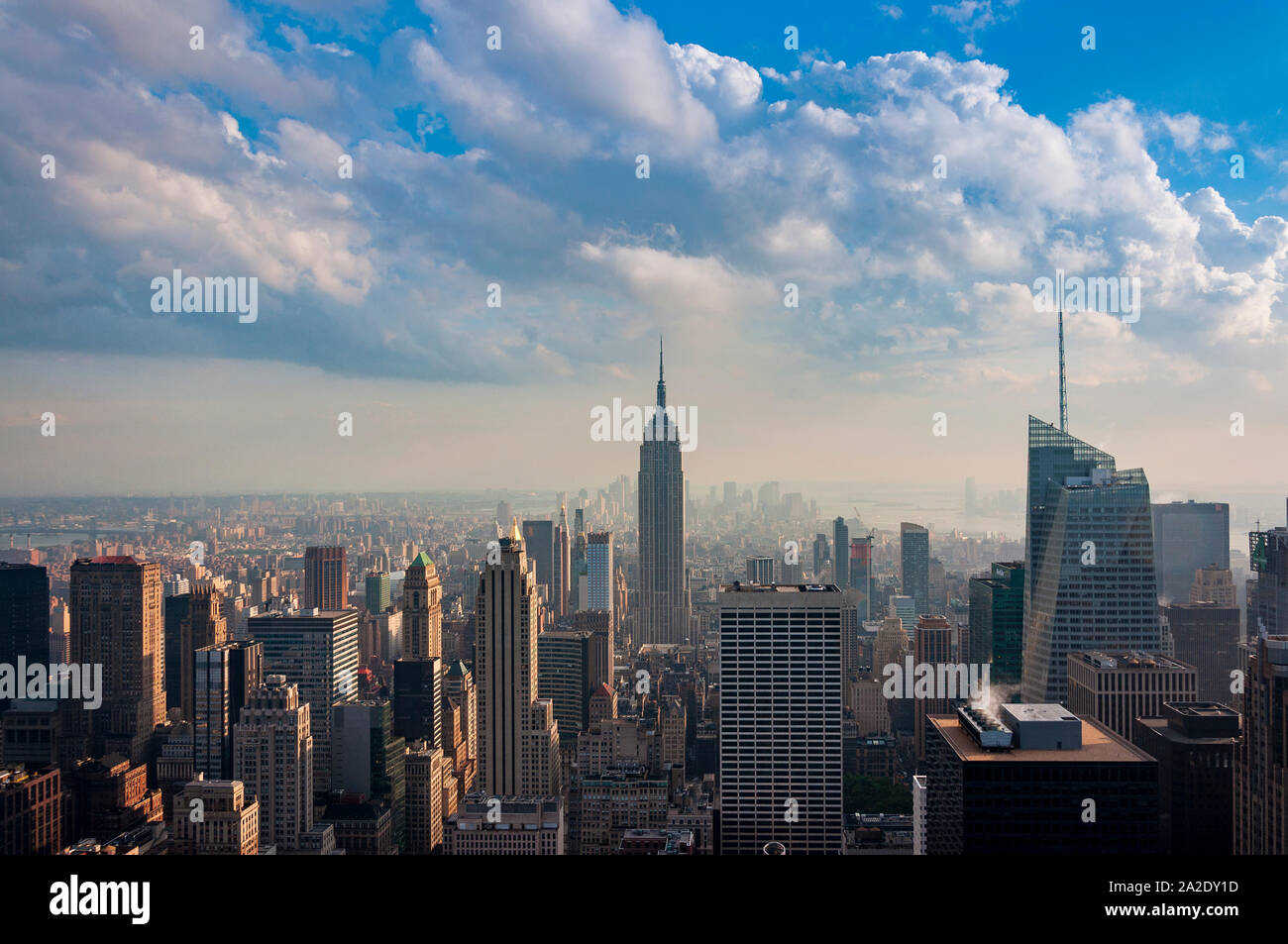 New York City, USA - June 10, 2010: View of  the Manhattan skyline in New Your City, USA. Stock Photo