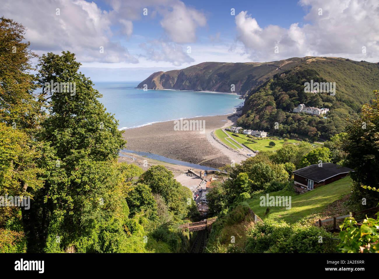 Lynmouth on the Atlantic coast of North Devon Stock Photo