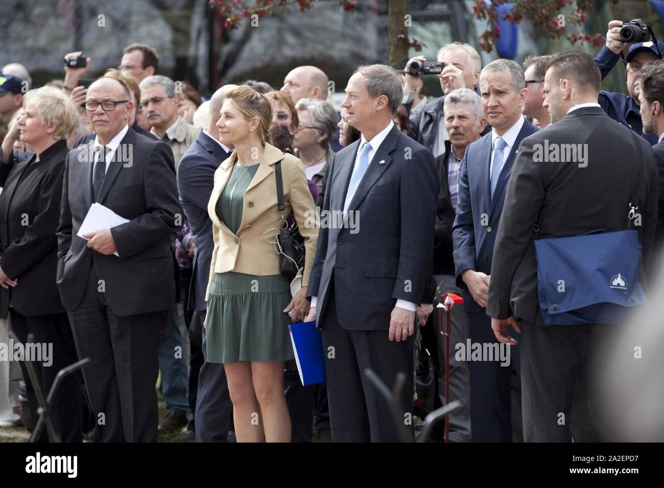 Elbe Day April 25, 2015 in Torgau Stock Photo