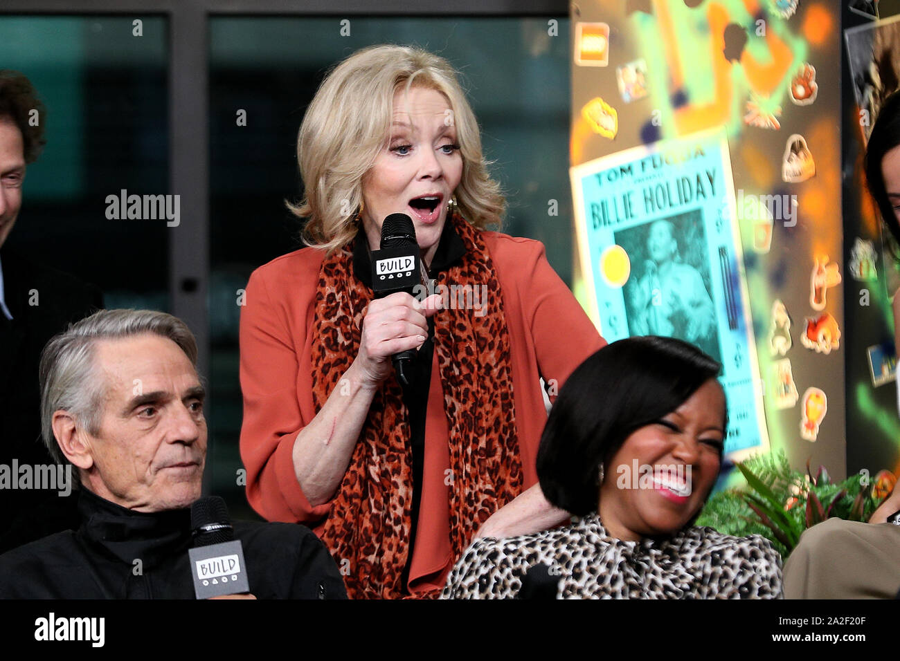 New York Usa 2 October 2019 Jeremy Irons Jean Smart Regina King At The Build Speaker