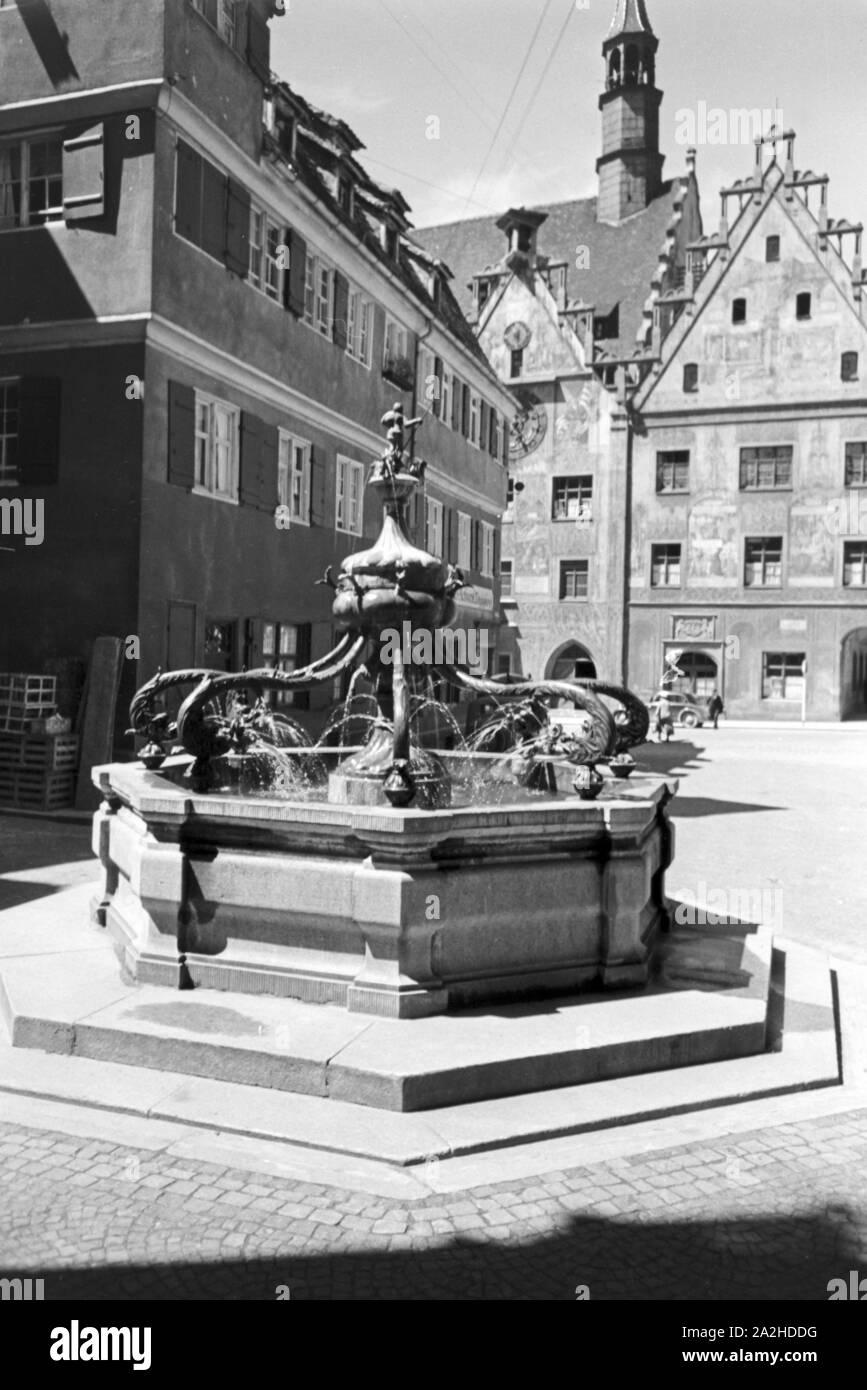 Ein Ausflug nach Ulm, Deutsches Reich 1930er Jahre. A trip to Ulm, Germany 1930s. Stock Photo