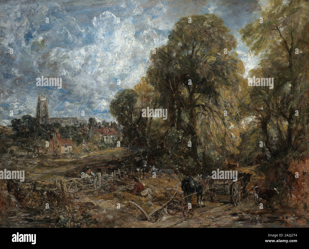 Stoke-by-Nayland, 1836, John Constable, English, 1776-1837, England, Oil on canvas, 126 × 169 cm (49 5/8 × 66 1/2 in Stock Photo