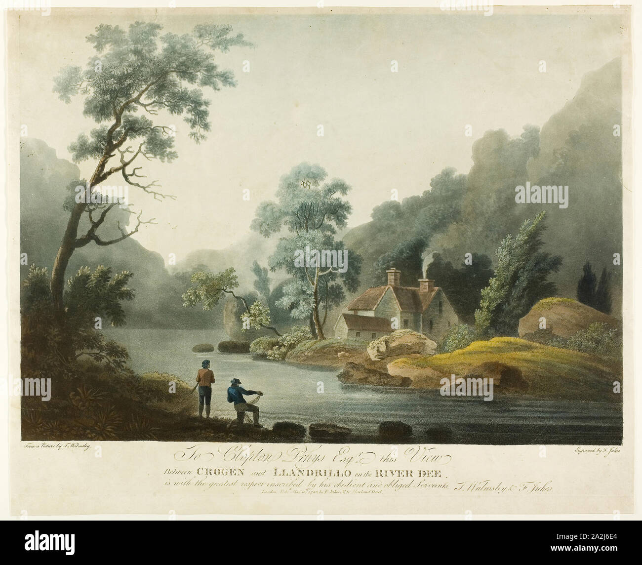 Between Crogen & Llandrillo on the R. Dee, published 1793, Francis Jukes, English, 1745-1812, England, Color aquatint and etching on paper, Untitled, 1848/56, Fontayne & Porter, American, active 1848–1856, United States, Daguerreotype, 14 x 10.8 cm (plate), 15 x 12.1 x 1.5 cm (case), Untitled, 1839/60, 19th century, Unknown Place, Daguerreotype, 14 x 10.8 cm (plate), 15.3 x 12 x 1.9 cm (case), Untitled, 19th century, 19th century, Unknown Place, Albumen on porcelain, 14 x 10.8 cm (plate), 15.7 x 12.7 x 2.7 cm (case Stock Photo
