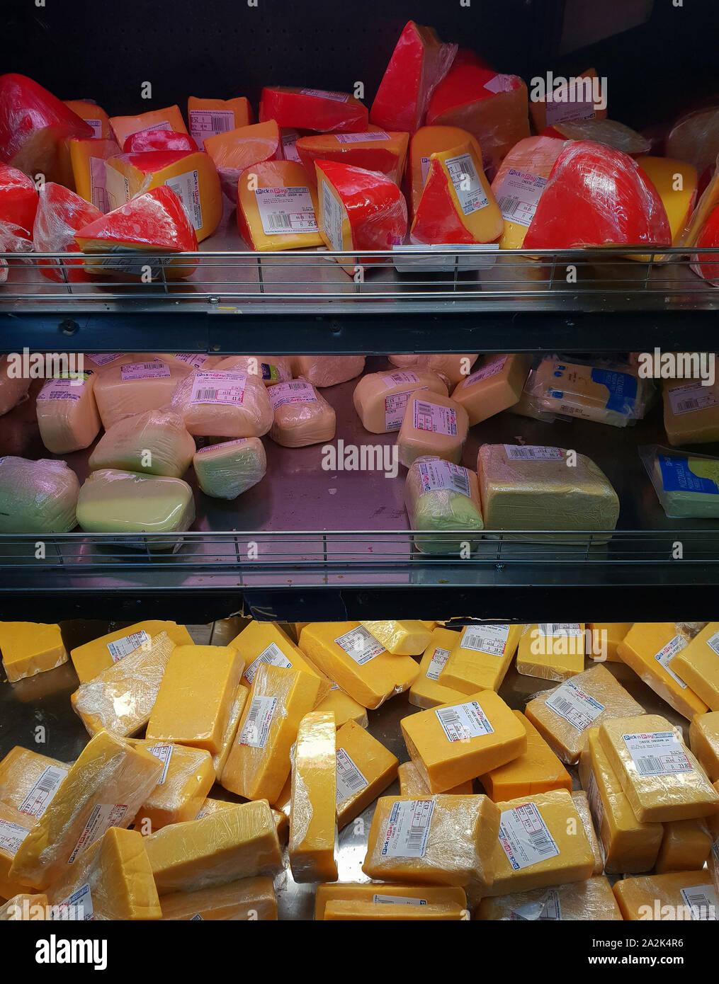 Supermarket Aisle Fridge Stock Photos Supermarket Aisle