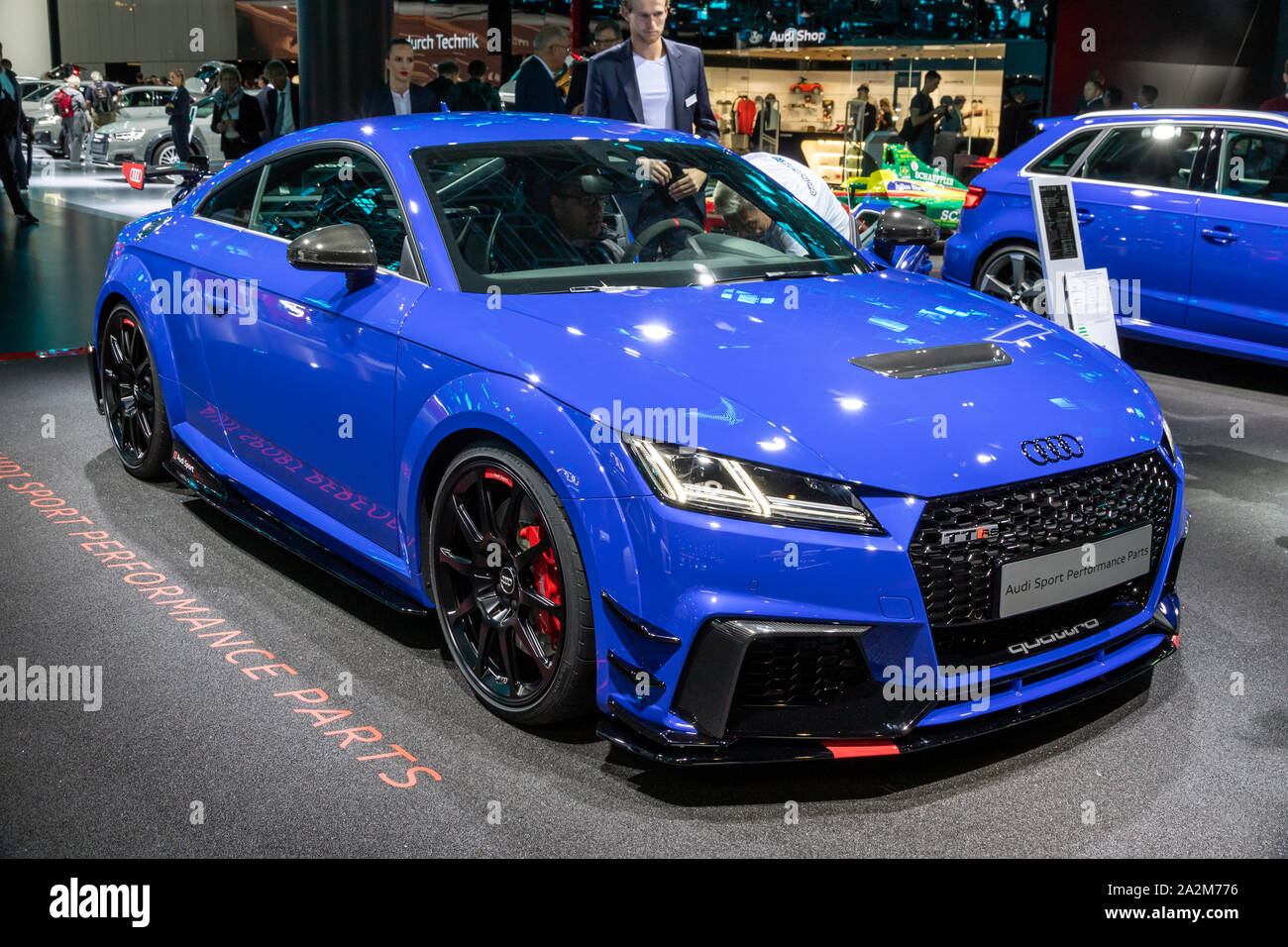 Frankfurt Germany Sep 13 2017 Audi Tt Rs Coupe Sports Car Showcased At The Frankfurt Iaa Motor Show Stock Photo Alamy