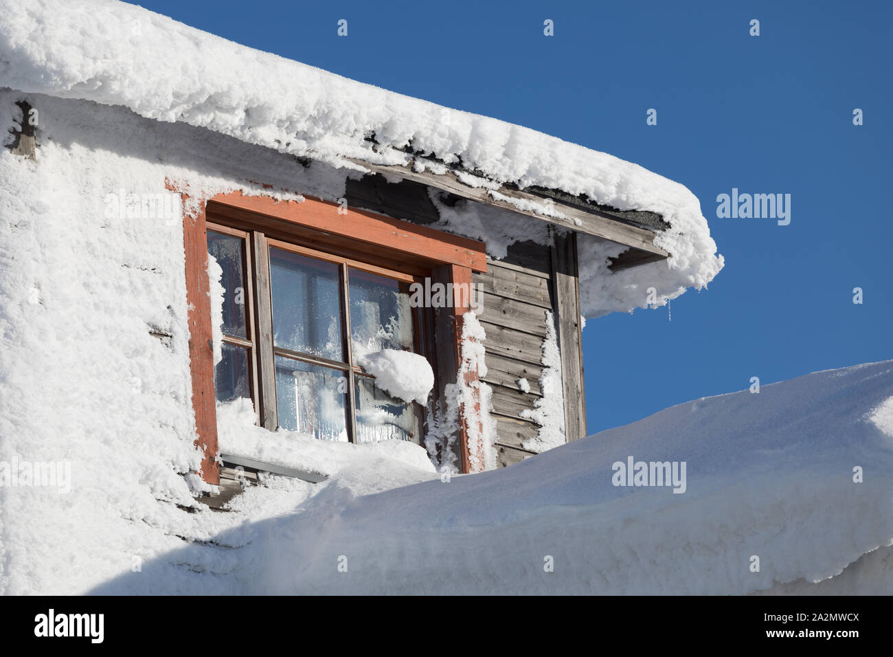 Kaunispää-tunturin huipulla talvella Lapissa Stock Photo