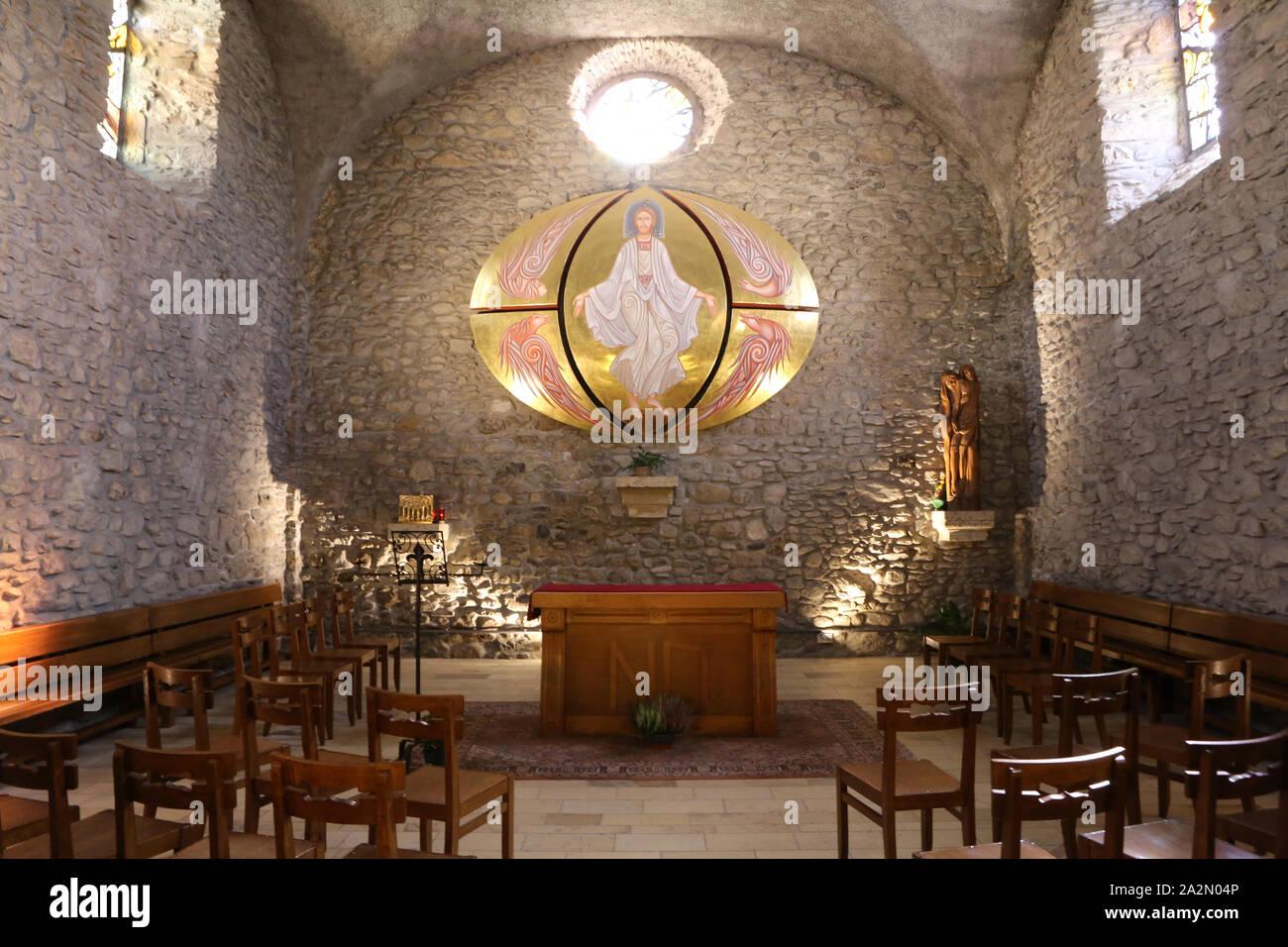 Chapelle Sainte-Anne dite chapelle des pénitents XVI - XVIII ème siècle. Megève. Haute-Savoie. France. / Chapel Sainte-Anne known as chapel of peniten Stock Photo