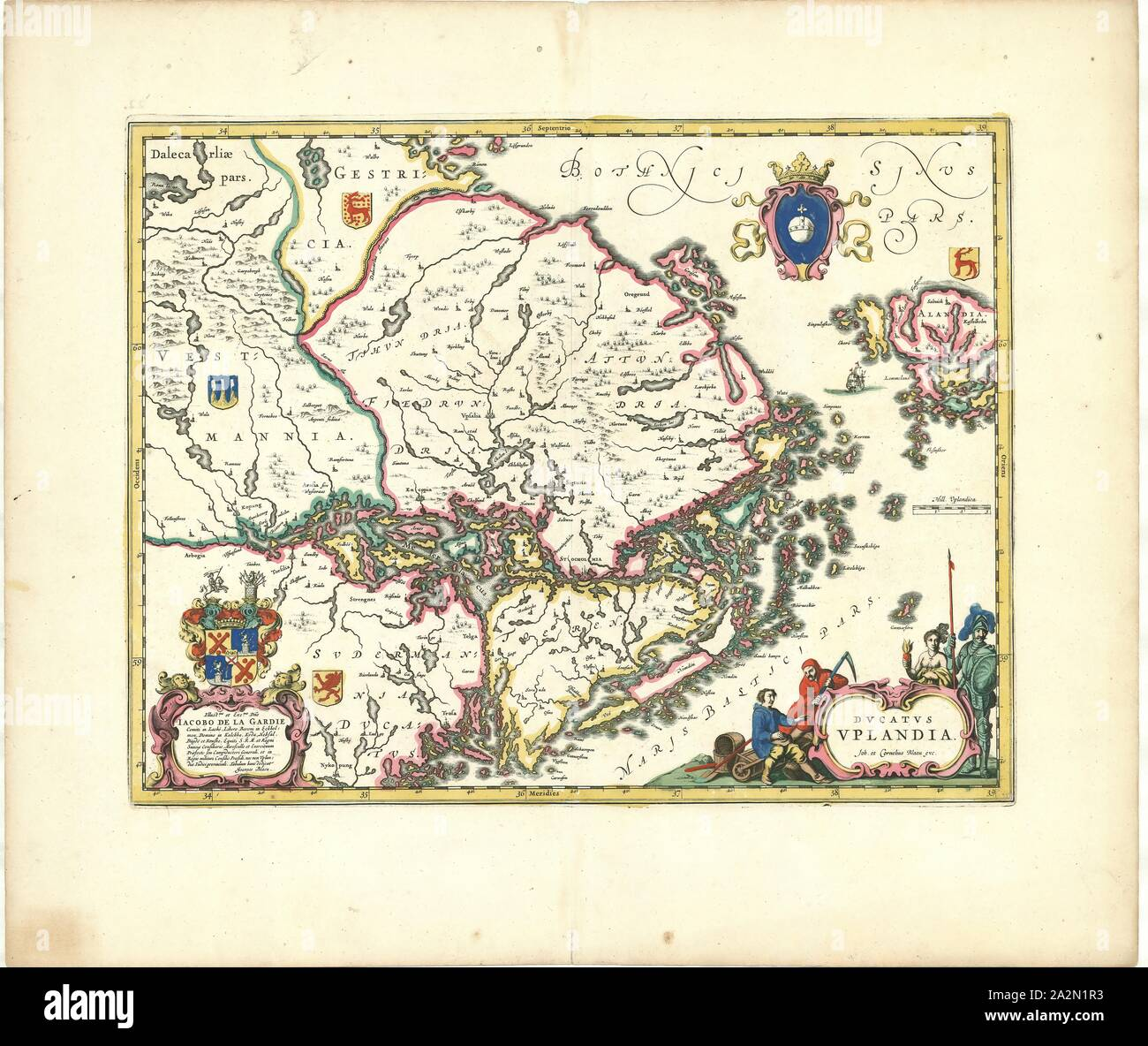 "Willem /& Johan Blaeu Map of British Isles 1635-24/"" x 16/"" Photographic Print"