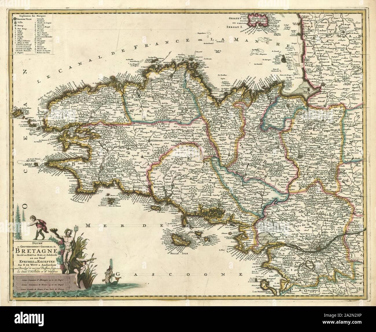 Bretagne Map Stock Photos Bretagne Map Stock Images Alamy
