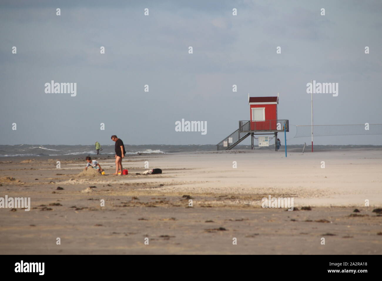 At the sandy beach of Langeoog island in Germany Stock Photo