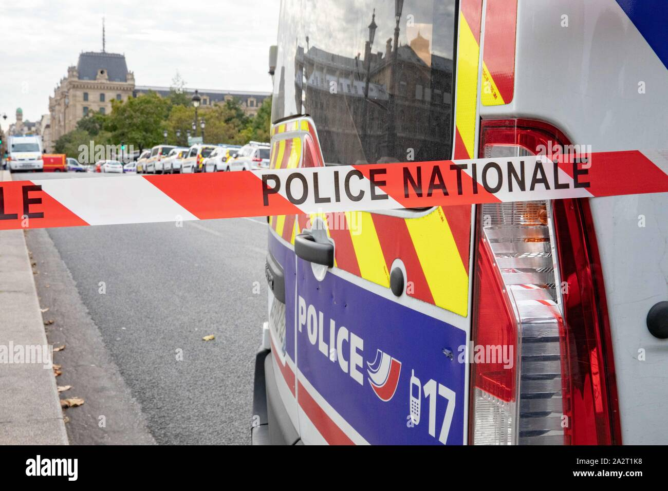 Paris, France. 3rd October 2019. Police Headquarter attacked Credit: EDOUARD MONFRAIS/Alamy Live News Stock Photo