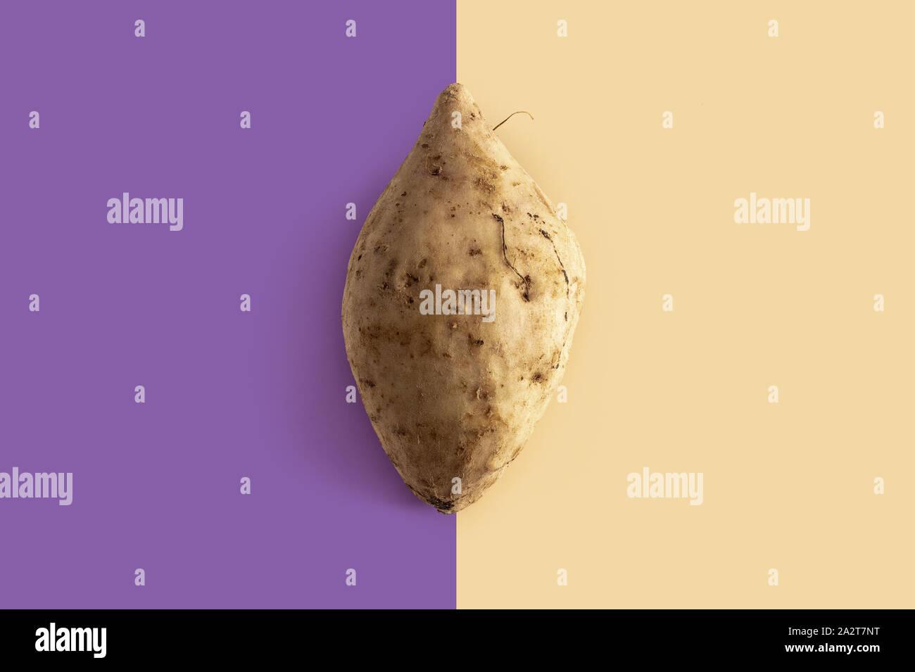 White Potatoes With Purple Flesh Stock Photos White