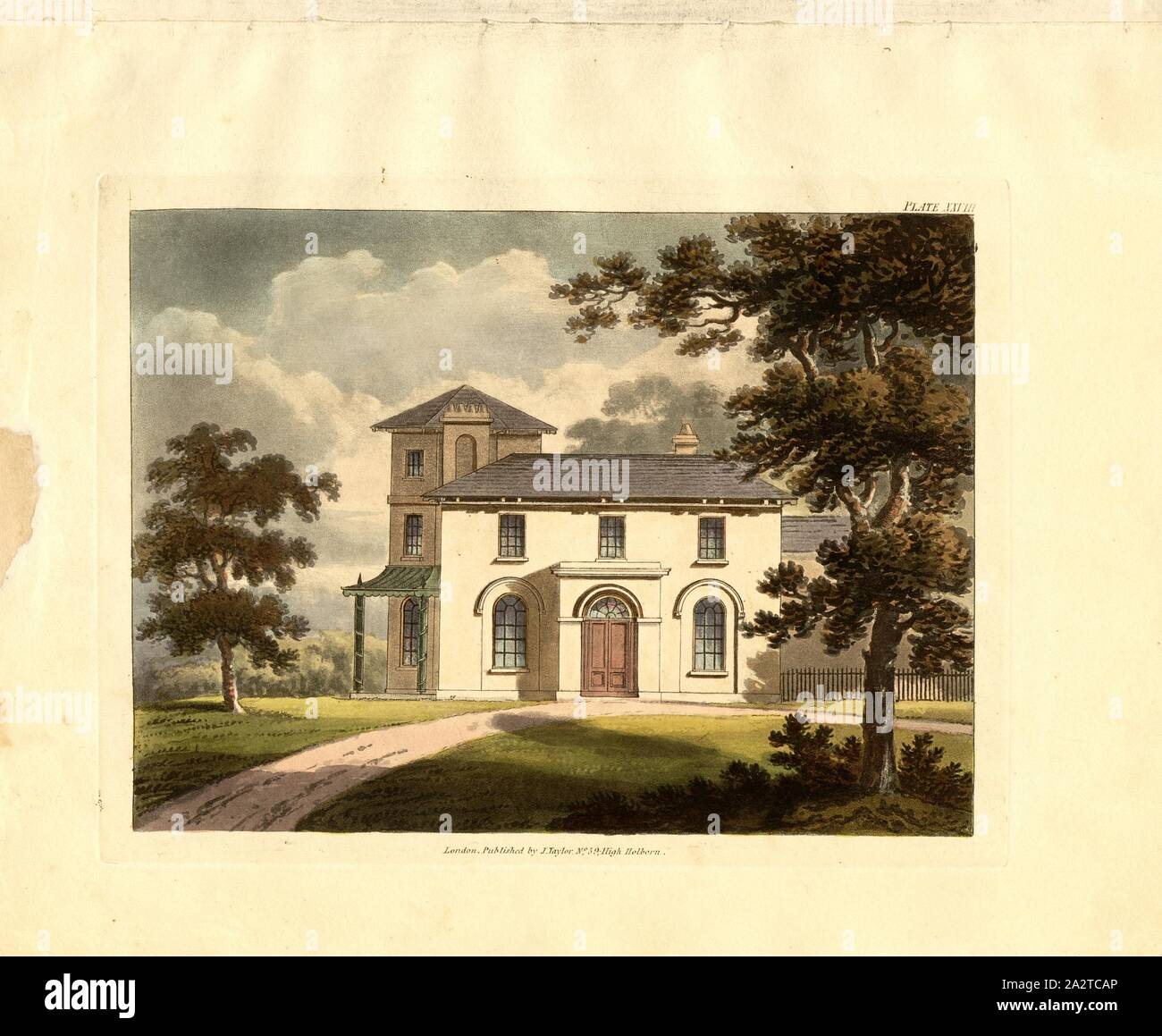 Italian Villa 2 An Elevation Of A House In The Style Of An Italian Villa Pl Xxviii After P 31 Robert Lugar Architectural Sketches For Cottages Rural Dwellings And Villas In The