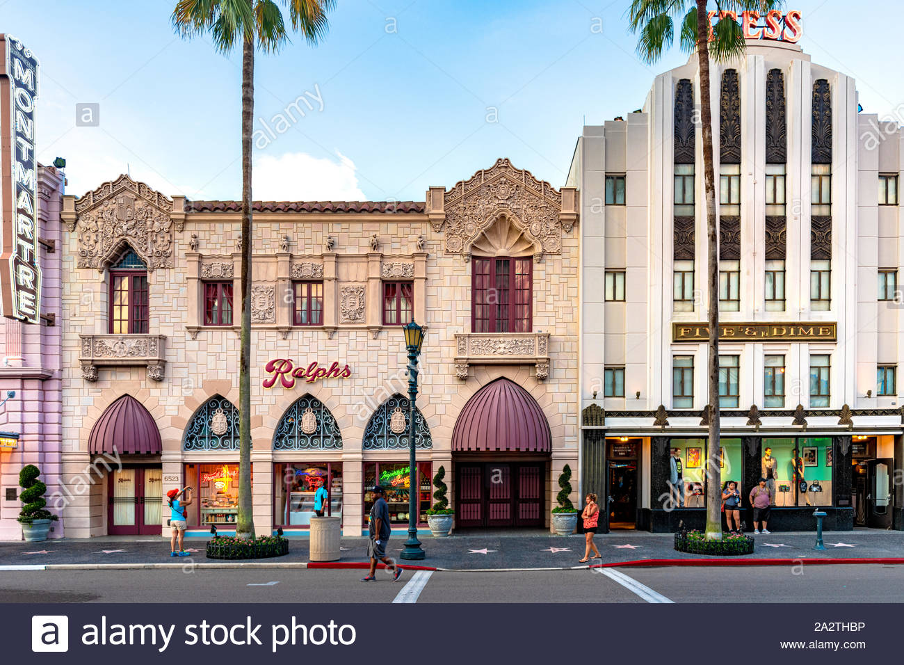 Orlando, Florida-July 20, 2019: Visiting the Universal Studios Theme Park. The place is a famous tourist attraction. Stock Photo