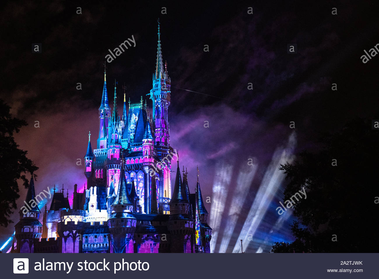 Orlando, Florida-July 20, 2019: Visiting the Walt Disney Magic Kingdom Park. The place is a famous tourist attraction. Stock Photo