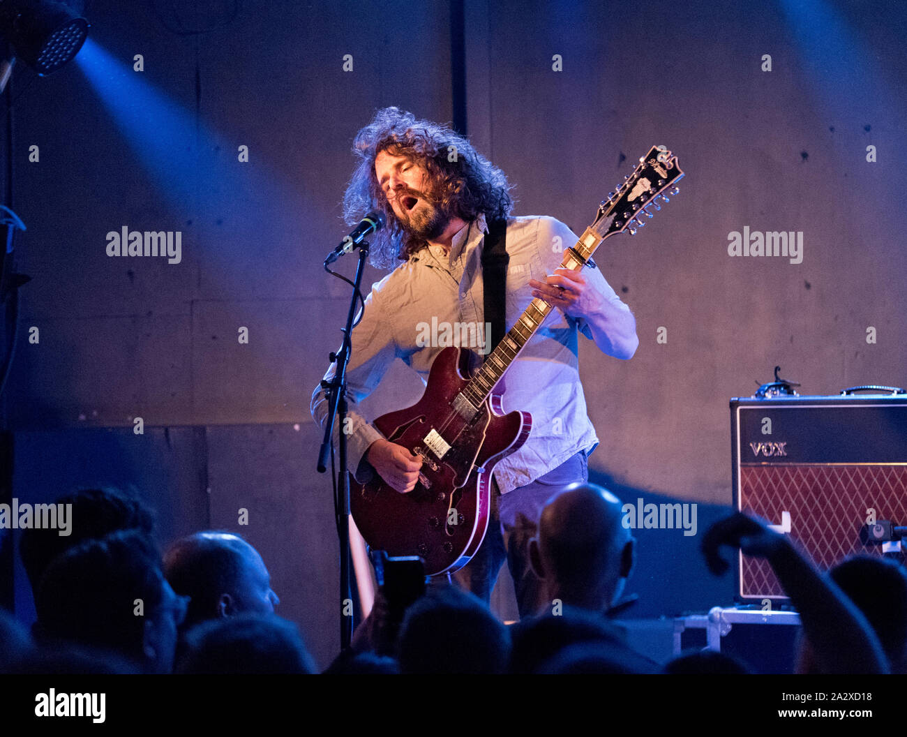 Brudenell Social Club, Leeds, UK. 3rd October 2019. US indie band Sebadoh in concert. Lou Barlow singer and guitarist. Credit John Bentley/Alamy Live News. Stock Photo