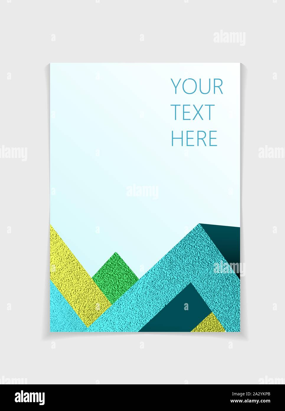 Brochure With Modern Colorful Geometric Elements Cover Page