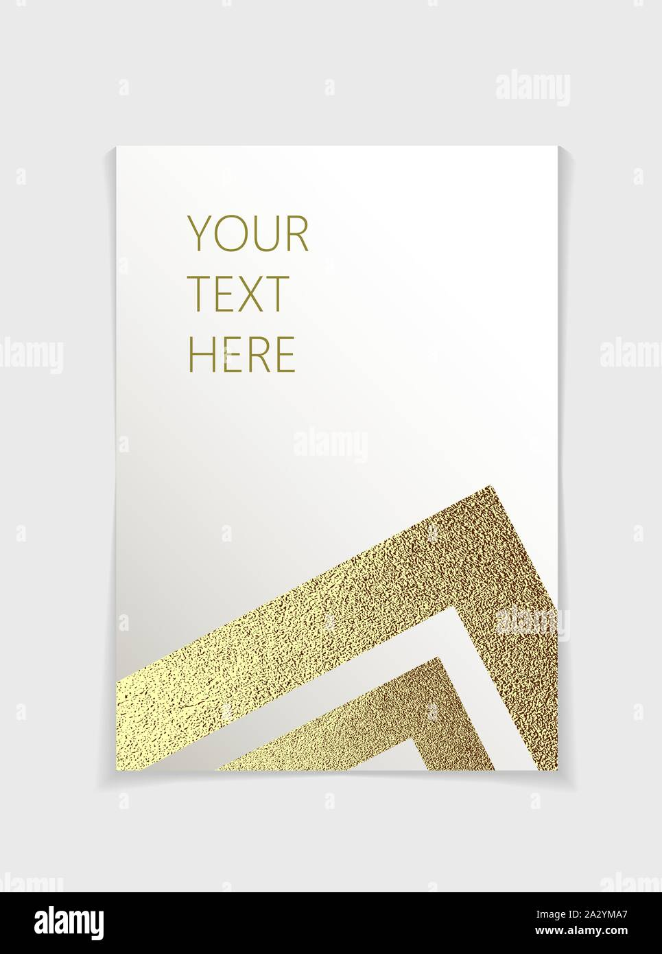 Brochure With Modern Gold Geometric Elements Cover Page