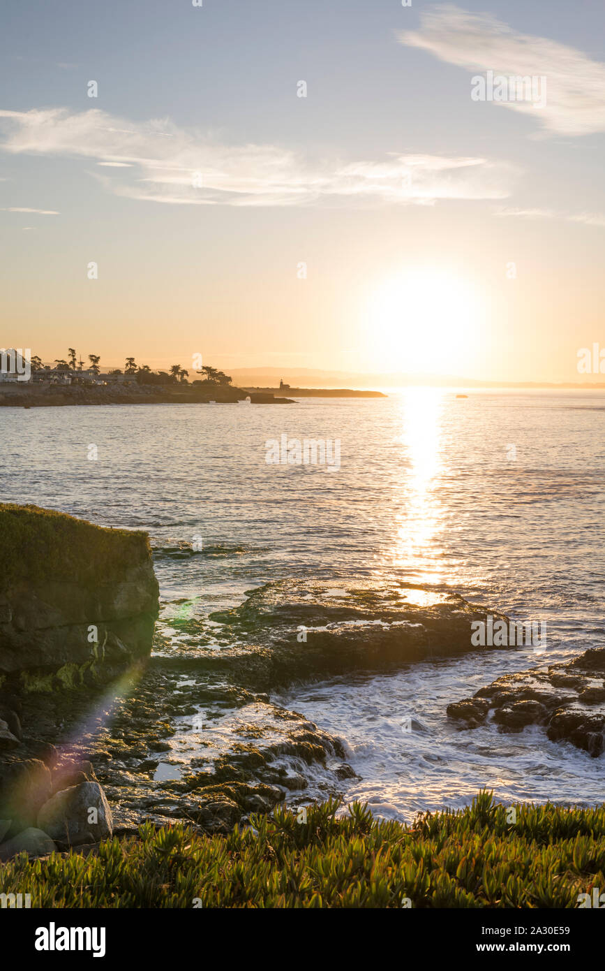 Sunrise in Santa Cruz, California, USA. Stock Photo