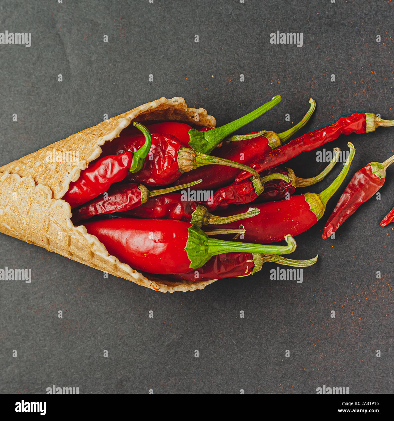 Bunch of red pepper. Stock Photo