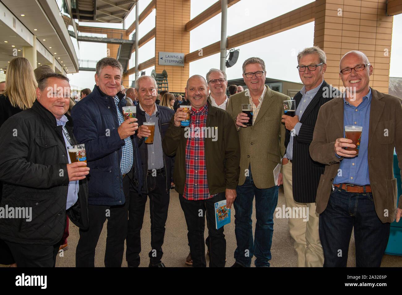 Autumn Racing Weekend & Ascot Beer Festival, Ascot Racecourse, Ascot, Berkshire, UK. 4th October, 2019.  Credit: Maureen McLean/Alamy Stock Photo