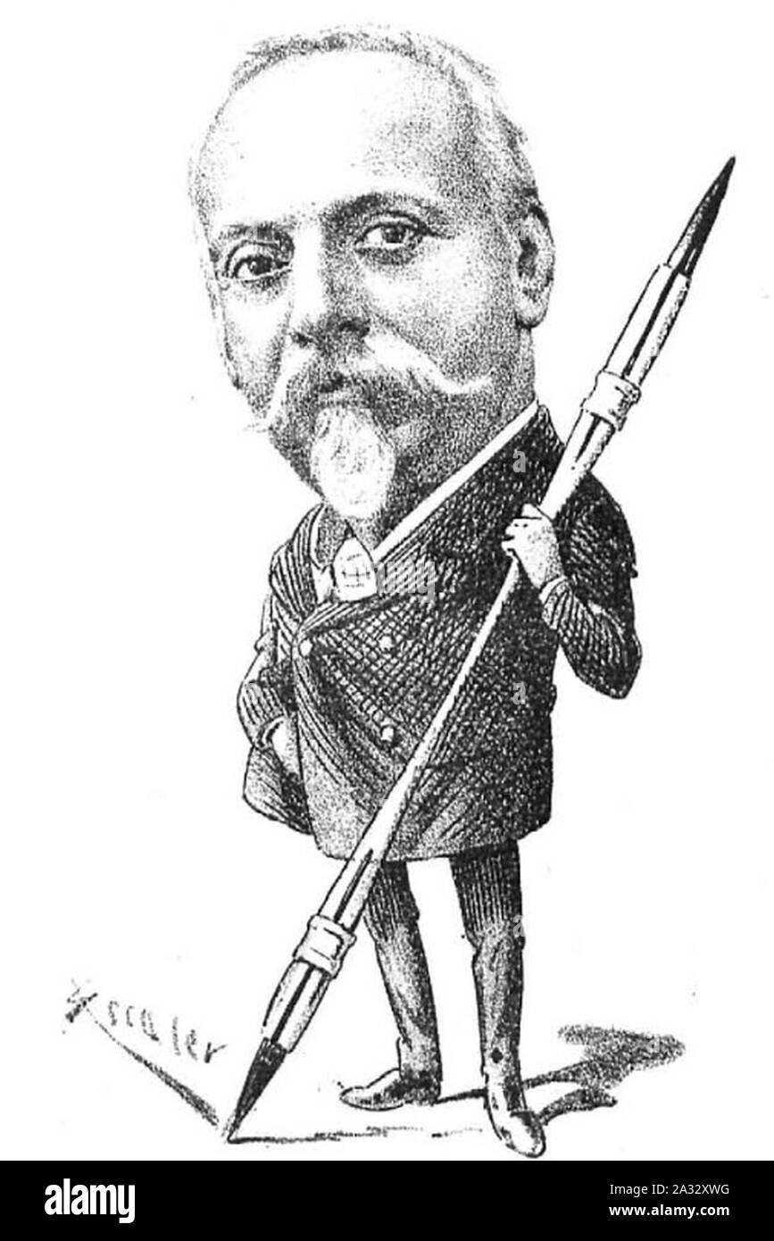 Eusebi Planas i Franquesa, per Ramon Escaler (1891). Stock Photo