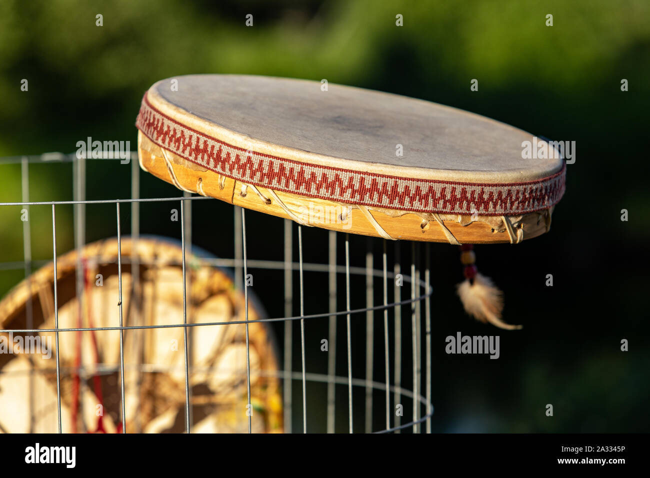 BGLKCS Native American Drums Flute and Shaker Image