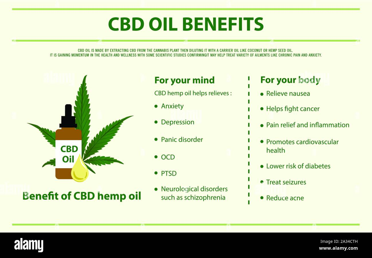 Cbd Oil Benefits Horizontal Infographic Illustration About Cannabis As Herbal Alternative Medicine Healthcare And Medical Science Vector Stock Vector Image Art Alamy