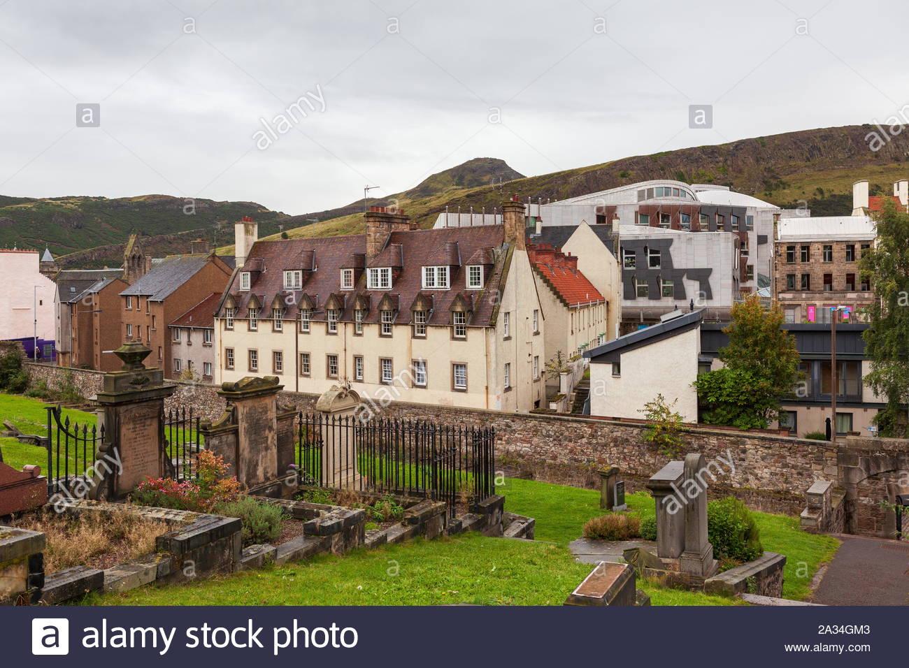Old Calton Burial Ground Edinburgh Scotland Stock Photo