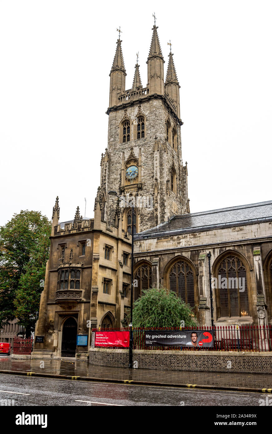 The Church of Holy Sepulchre on Holborn Viaduct in the city centre, London, United Kingdom Stock Photo