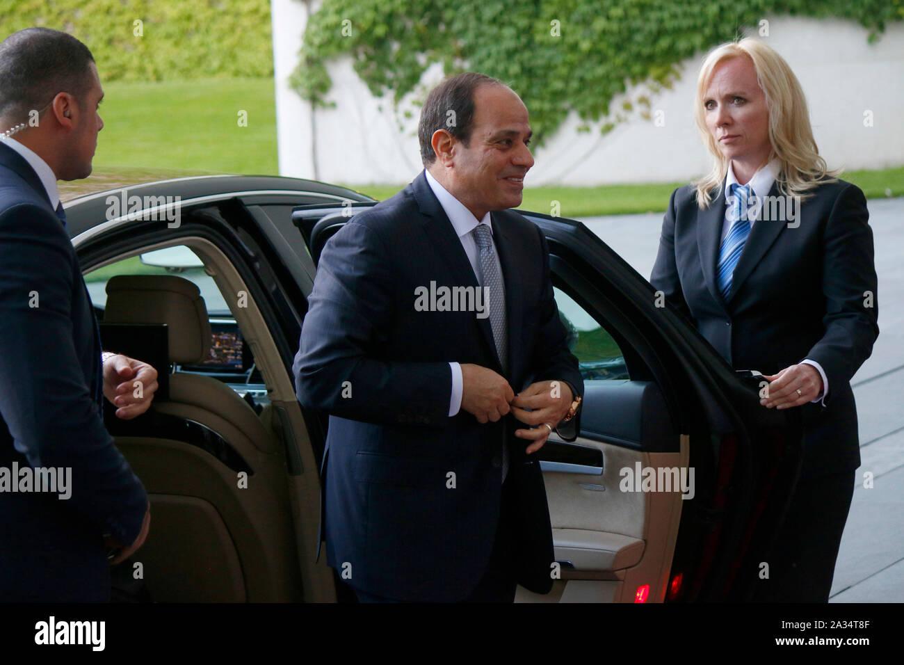 Abd al Fattah as Sisi (Praesident Aegypten), BKin Angela Merkel - Treffen der dt. Bundeskanzlerin mit afrikanischen Staatschefs, Bundeskanzleramt, 12. Stock Photo