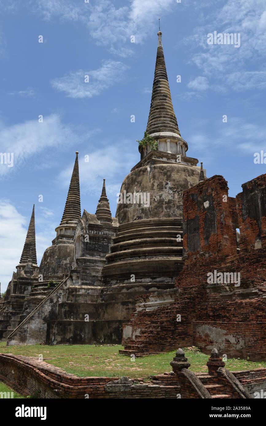 Wat Phra Si Sanphet, Ayutthaya, Thailand Stock Photo