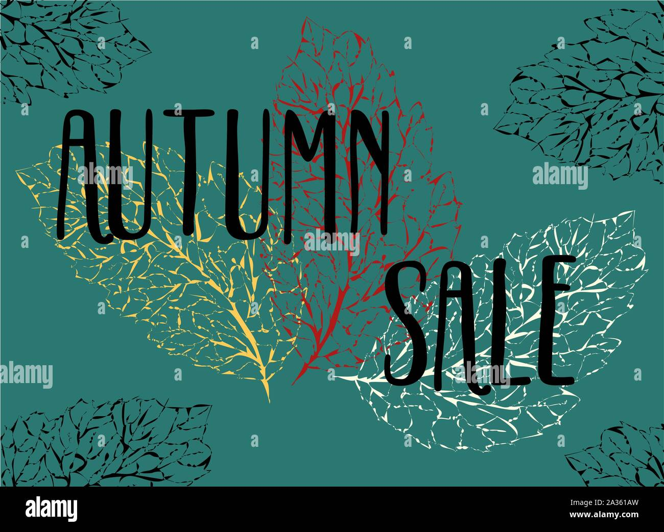 Beautiful Pattern With Autumn Sale On Background For Fashion Lifestyle Design Autumn Season Banner Texture Background Decoration Element Shop Stock Vector Image Art Alamy