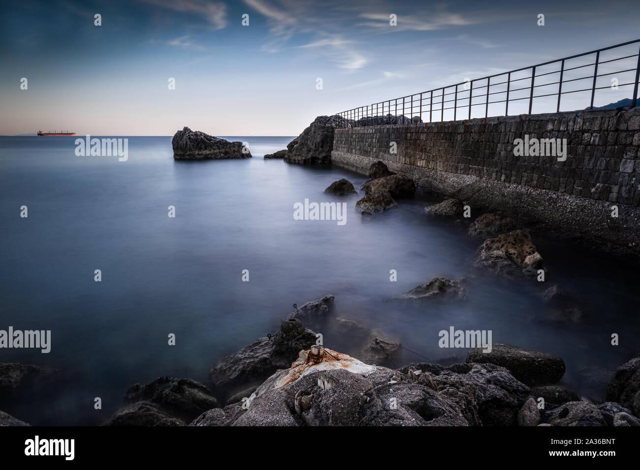 Corner of the Amalfi coast. Photographic shot taken in Vietri sul mare - Italy Stock Photo