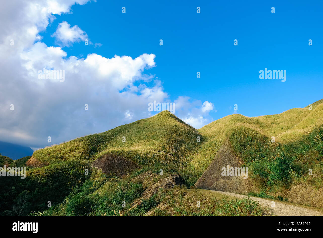 Amazing landscape in Ta Xua, Northwest Vietnam. At an altitude of 2000m above sea level, this place is also known by the name: Clouds Paradise. Stock Photo