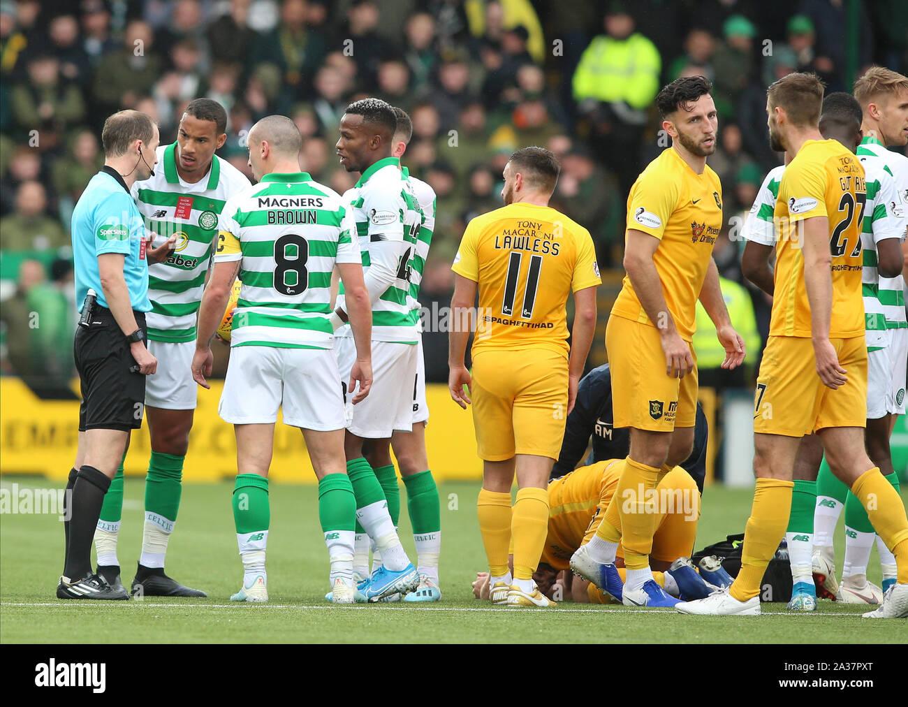 Livingston Scotland Uk 6th Oct 2019 Scottish Premiership Livingston Football Club Versus Celtic The Celtic Players
