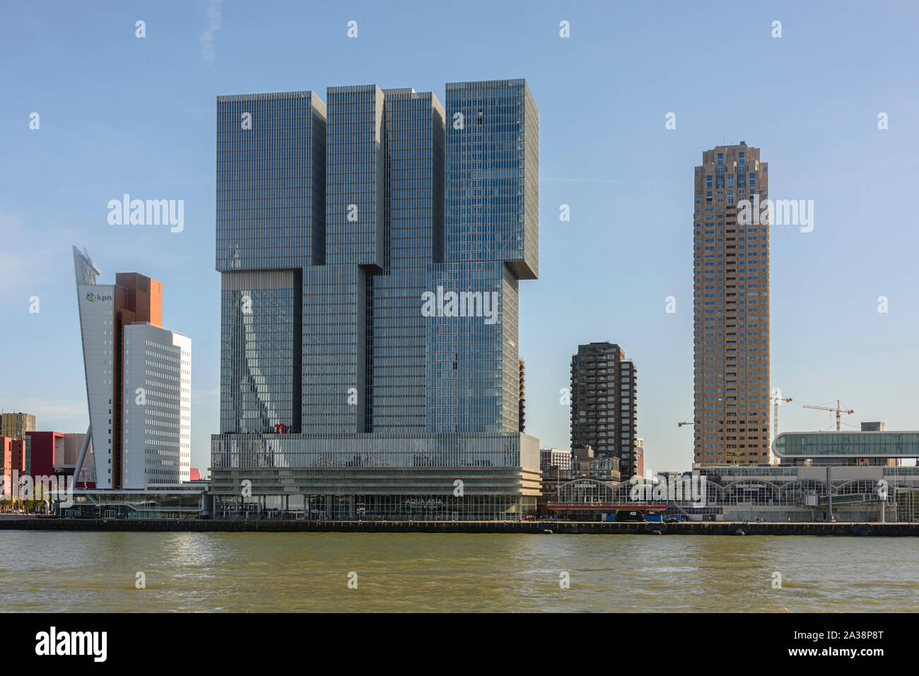Modern office buildings on the Rechtbank, Rotterdam, Netherlands Stock Photo
