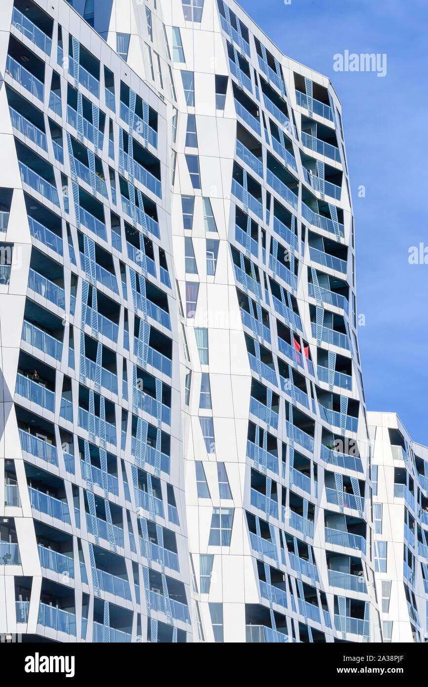 Modern residential apartments and offices in Mauritsweg, Rotterdam, Netherlands Stock Photo