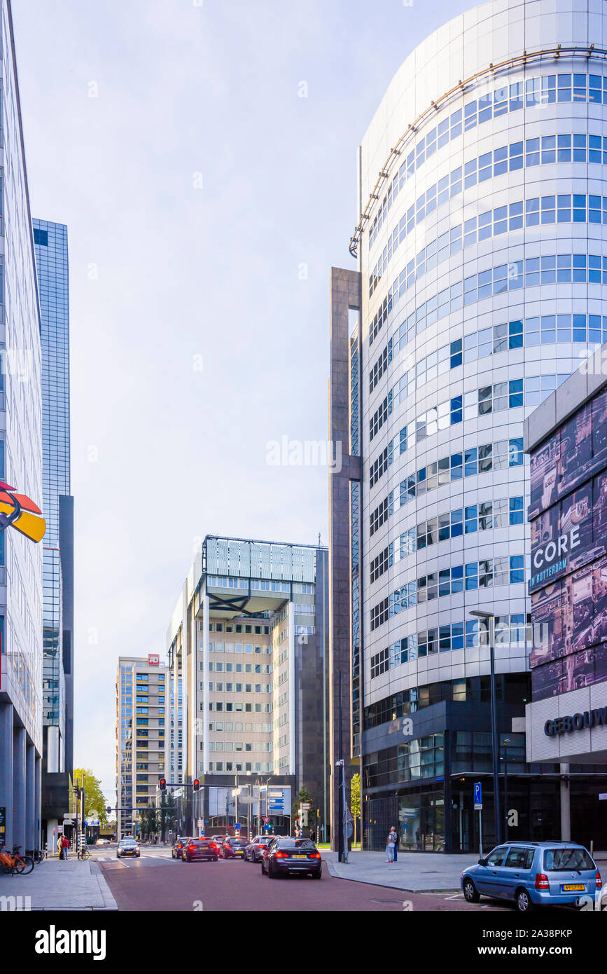 Modern office buildings in Rotterdam, Netherlands Stock Photo