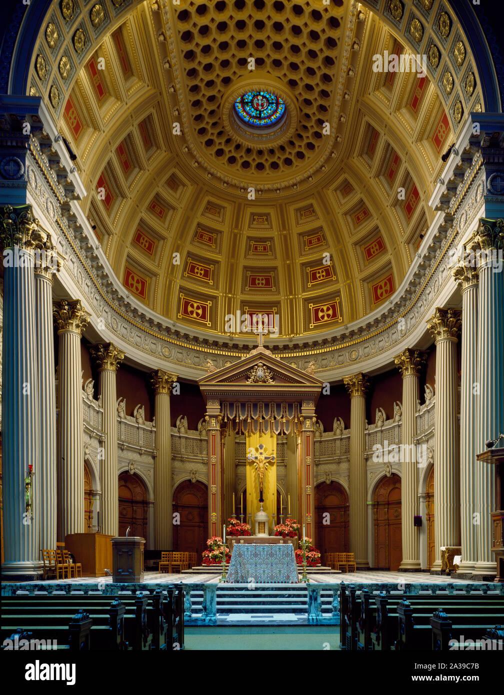 Sanctuary Of St Ignatius Church On The Campus Of The University Of San Francisco San Francisco California Stock Photo Alamy