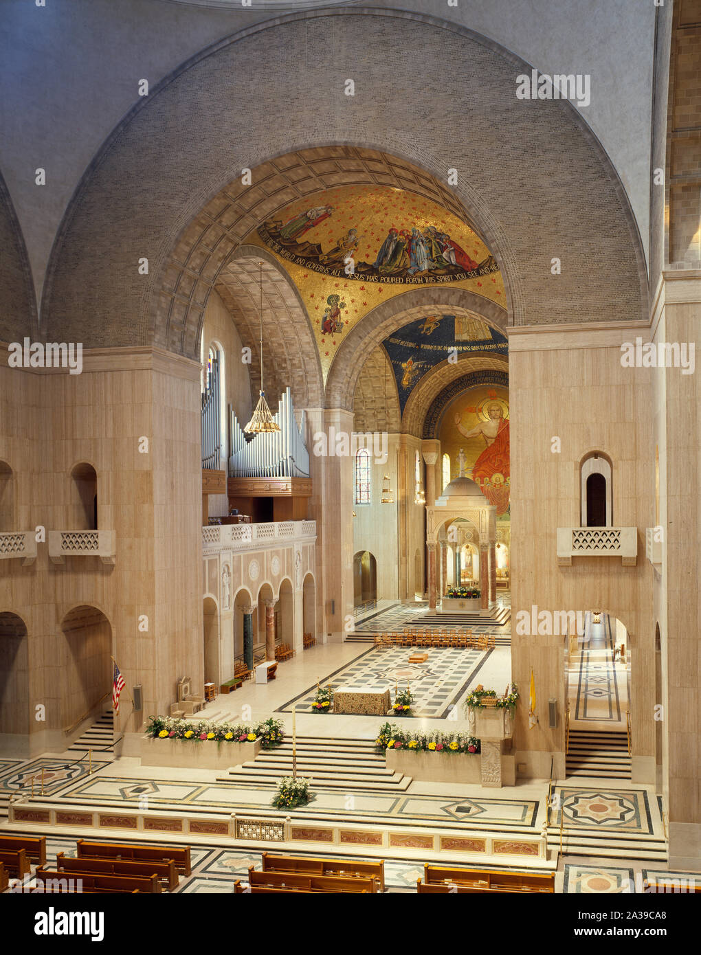 Sanctuary of the National Shrine of the Immaculate Conception on the campus of the Catholic University of America, Washington, D.C Stock Photo