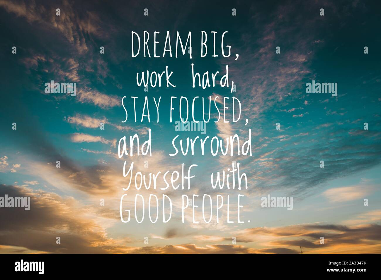 Motivational and inspirational quote   Dream big, work hard, stay ...
