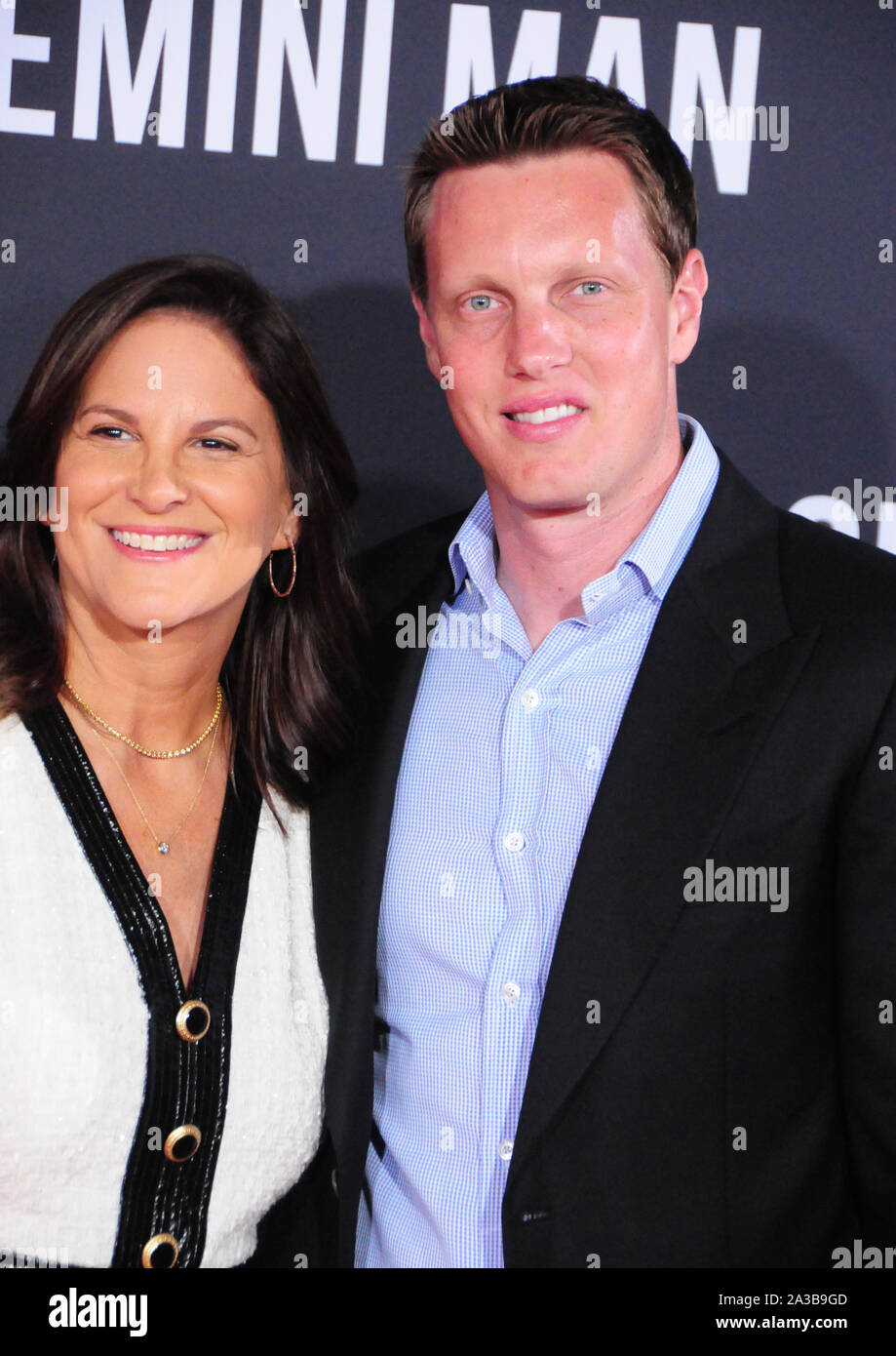Hollywood, California, USA 6th October 2019 Producers Dana Goldberg and David Ellison attend Paramount Pictures Presents The Premiere of 'Gemini Man' on October 6, 2019 at TCL Chinese Theatre in Hollywood, California, USA. Photo by Barry King/Alamy Live News Stock Photo