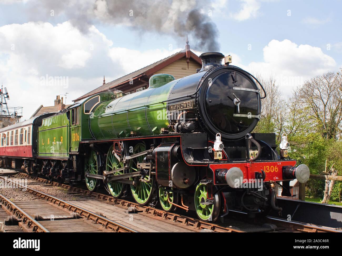 Steam locomotive engine Mayflower Stock Photo