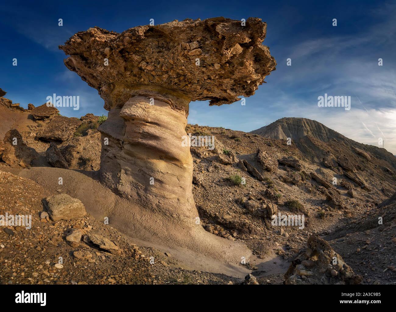 The Tabernas desert in Almeria, Spain Stock Photo